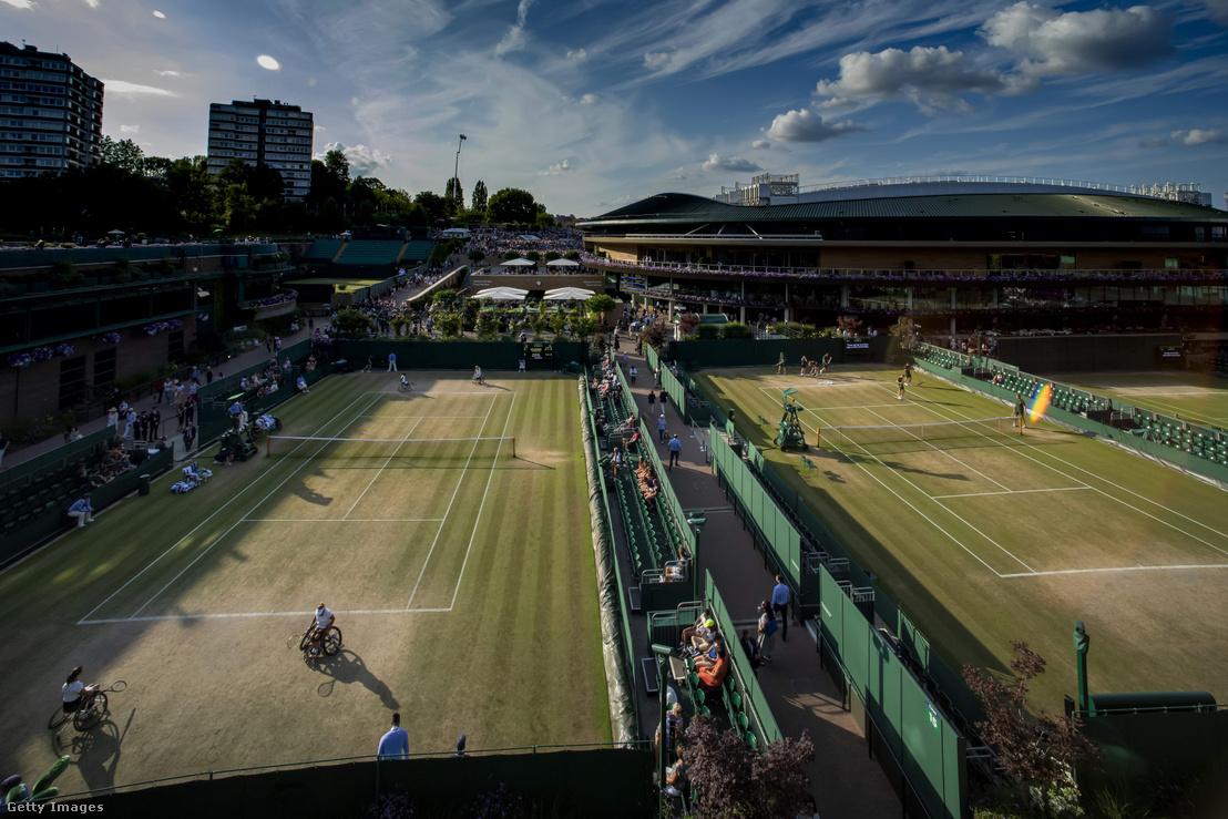 Wimbeldoni teniszpályák 2019. július 12-én