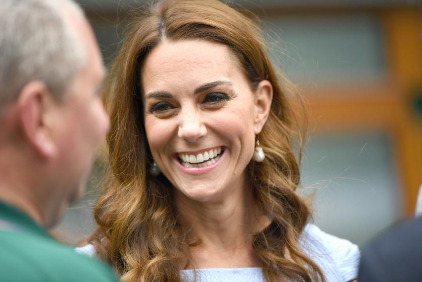 Katalin hercegné gyönyörű volt a wimbledoni döntőn - Búzavirágkékben tündökölt