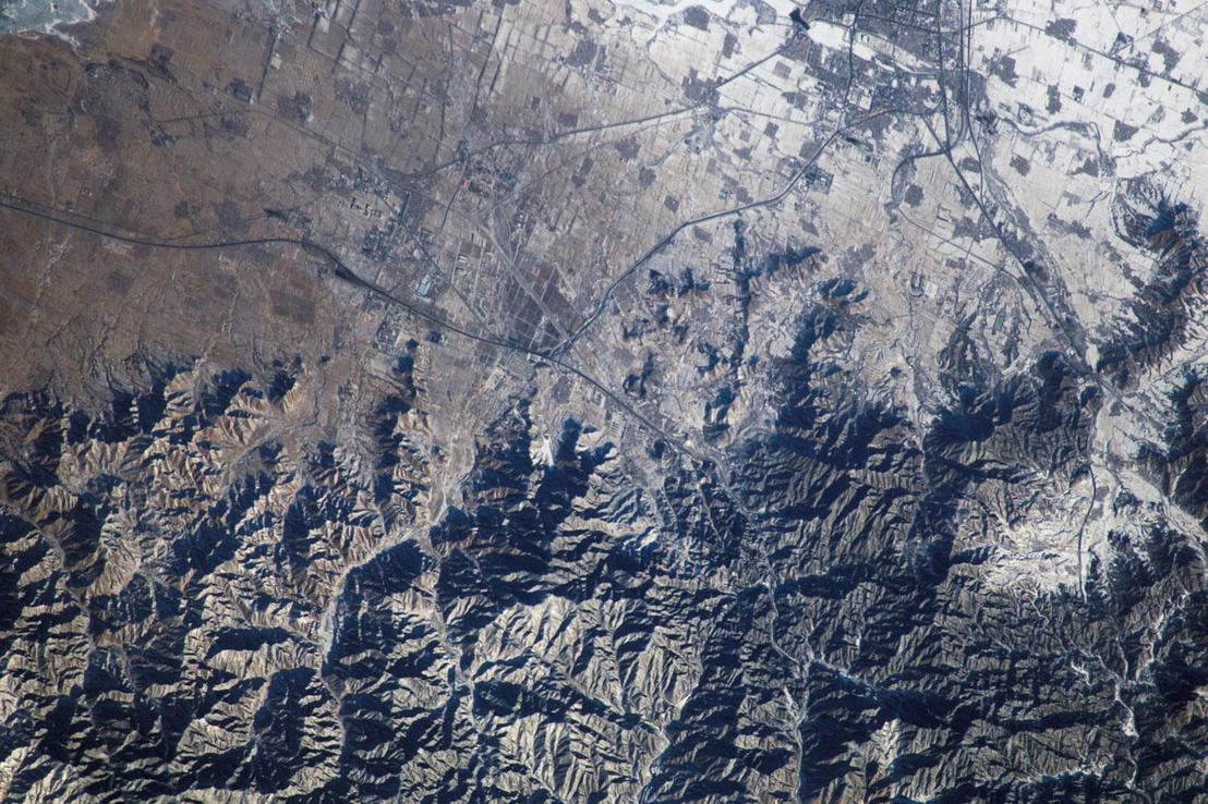 A kínai nagy fal fotója a Nemzetközi Űrállomásról 2017. augusztus 7-én