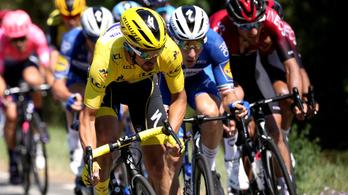 Az oldalszél káoszában elvérzett pár Tour de France-menő