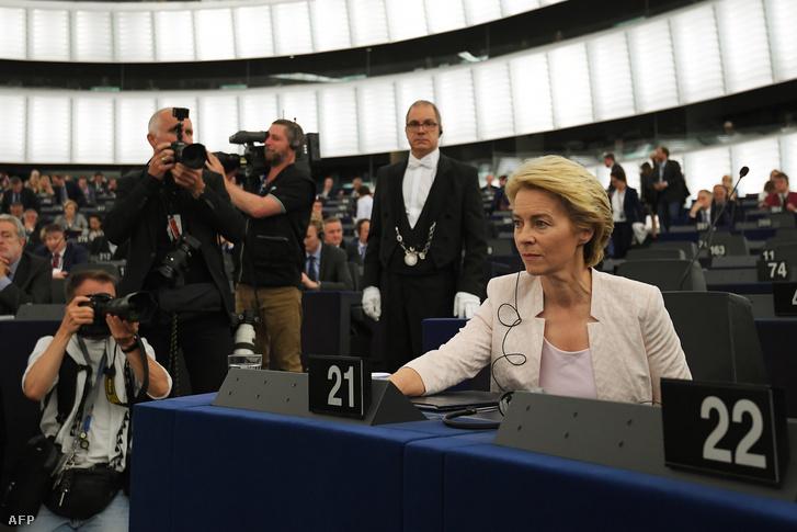 Usula von der Leyen az Európai Bizottság elnökjelöltje az Európai Parlamentben 2019. július 16-án