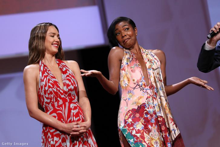 Jessica Alba és Gabrielle Union Monacóban, 2019. június 14-én