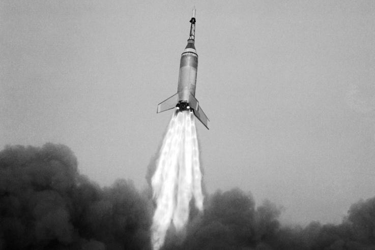 Az űrverseny első amerikai rakétái. Ez lenne itt Little Joe