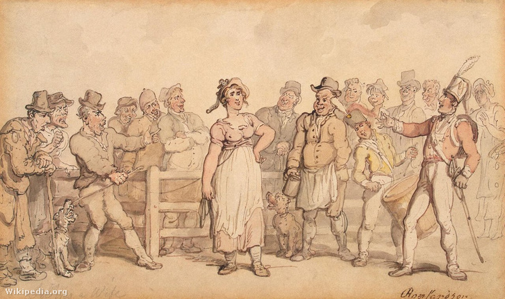 1280px-Rowlandson, Thomas - Selling a Wife - 1812-14