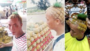 És most ismerkedjen meg az ananászfrizurás ananászárussal!