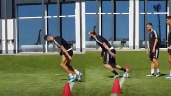 A Juventus edzésvideója Ronaldóval alázza a pohosan mozgó Higuaínt