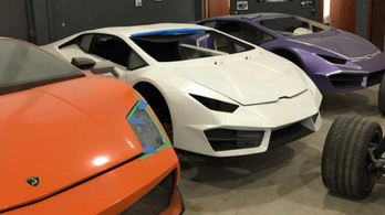 Így néz ki egy kamu Lamborghiniket gyártó műhely