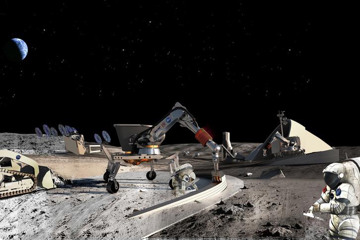 Koncepciórajz az űrbányászatról