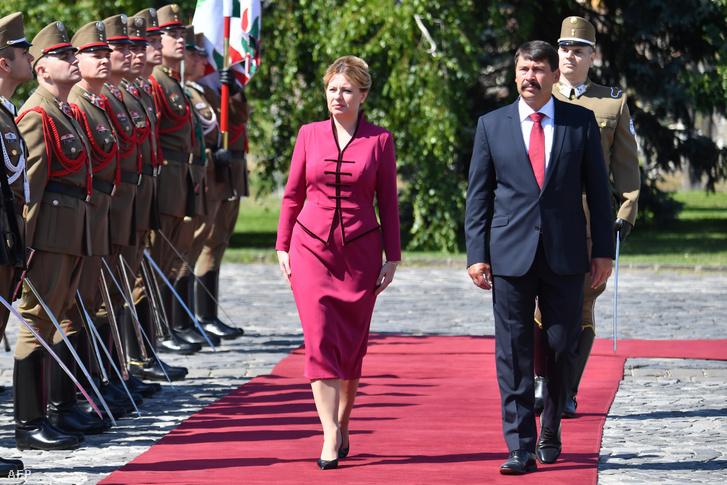 Zuzana Čaputová és Áder János Budapesten 2019. július 11-én.