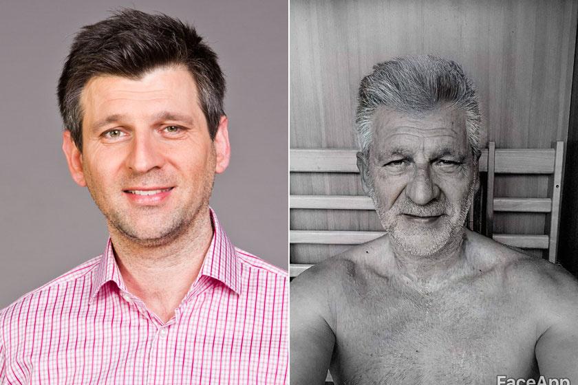 Kárász Róbertnek azt írták, a jobb oldali képen hasonlít az édesapjára, aki ma is sármos.