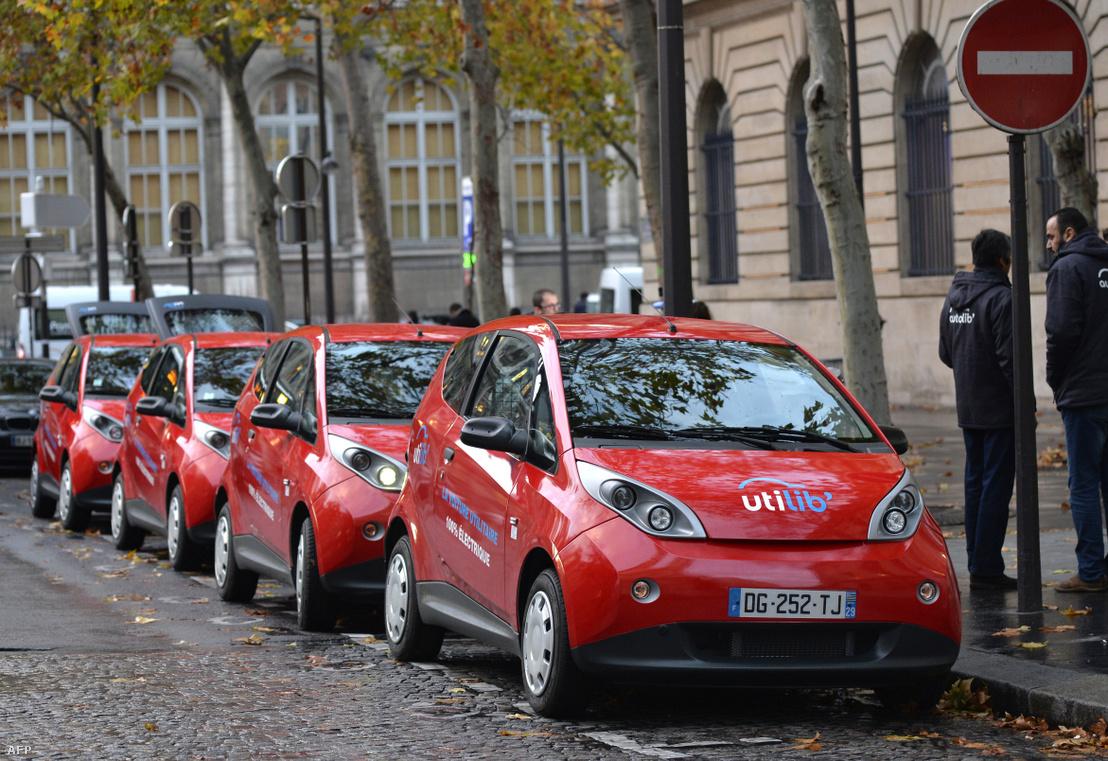 Elektromos autók Párizsban