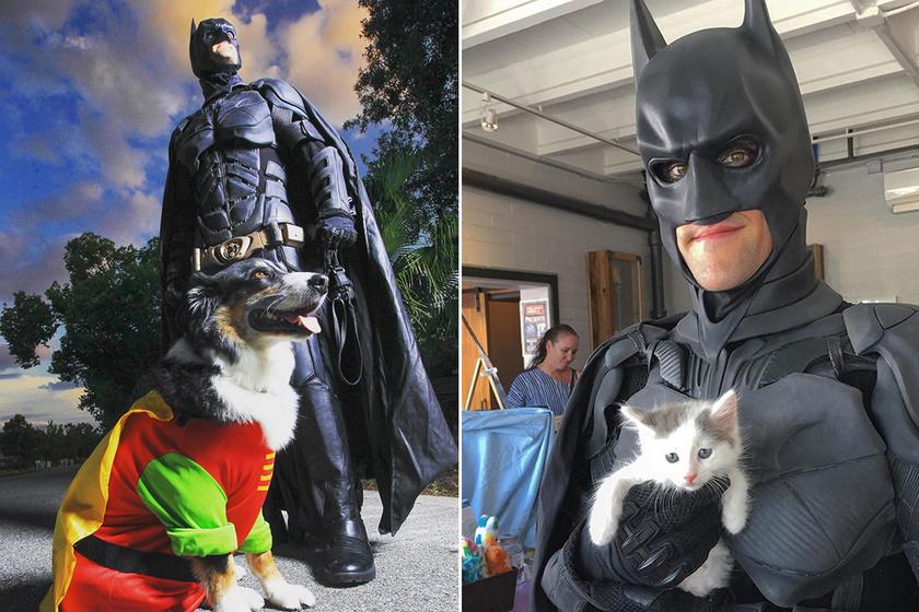 Batman-jelmezben járja az utcákat a férfi, mégsem nevet rajta senki: szívmelengető az oka