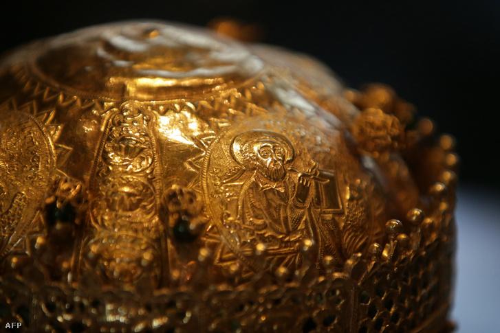 1740 körül készült korona Etiópiából, amit a britek az 1868-as Maqdala ostroma után vittek Angliába