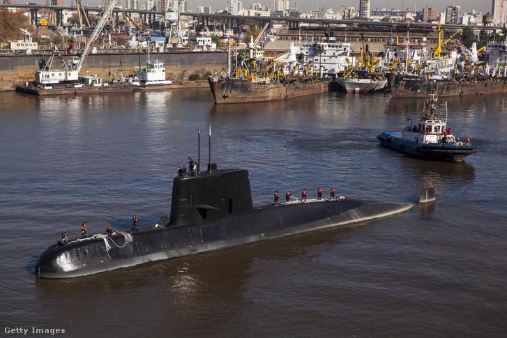 2014-es felvétel a két évvel később elsüllyen ARA San Juan tengeralattjáróról.