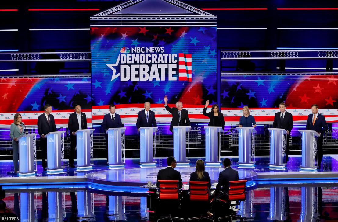 A 2020-as választás demokrata elnökjelöltjeinek második tv-vitája Miamiban 2019. június 27-én