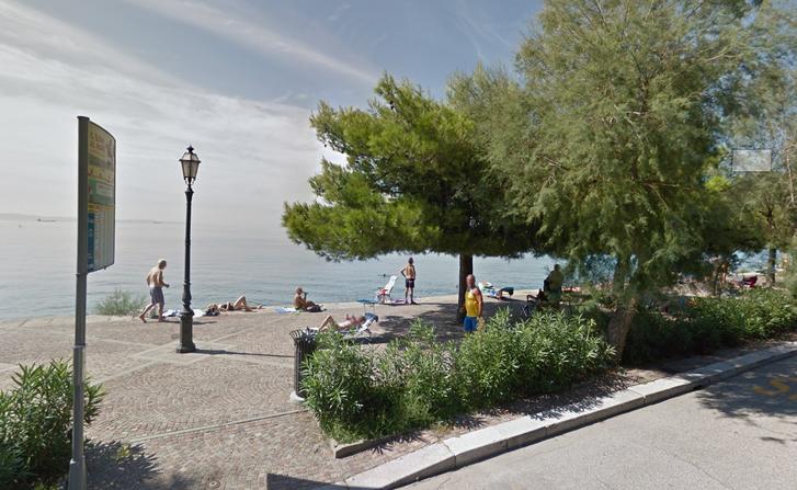 Barcola tengerpartja.