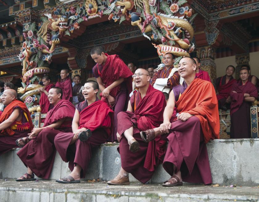 bhután-szerzetesek