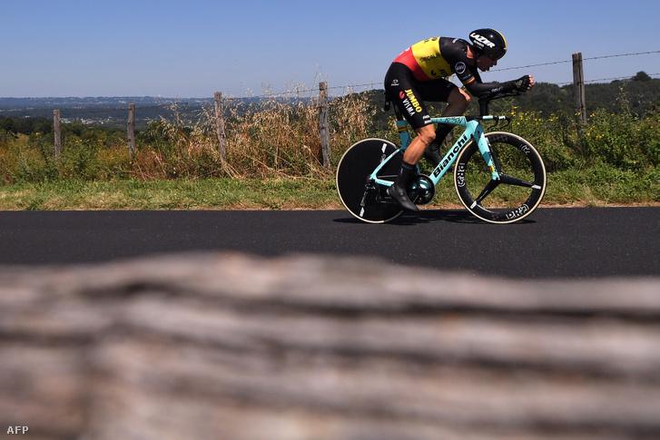 Wout Van Aert a Tour de France időfutamán