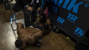 Akkora ütéseket kapott, hogy kirepült a ringből. De visszamászott