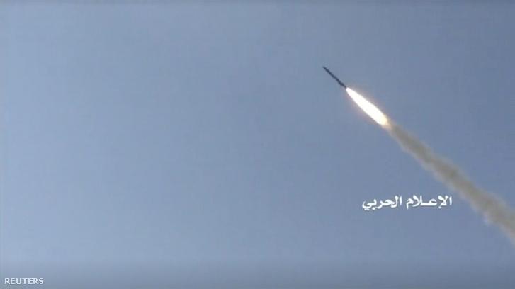 Rakéta Jemenben 2019. július 9-én.