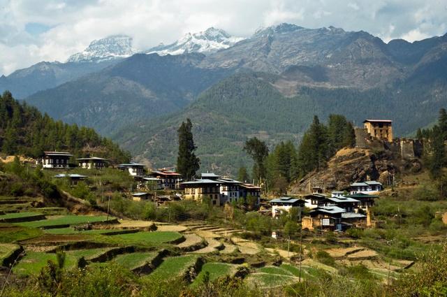 Teraszos földművelés Bhutánban
