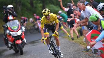 Tour de France: A sárga trikós megrogyott a parádés szakaszon, de még mindig ő vezet