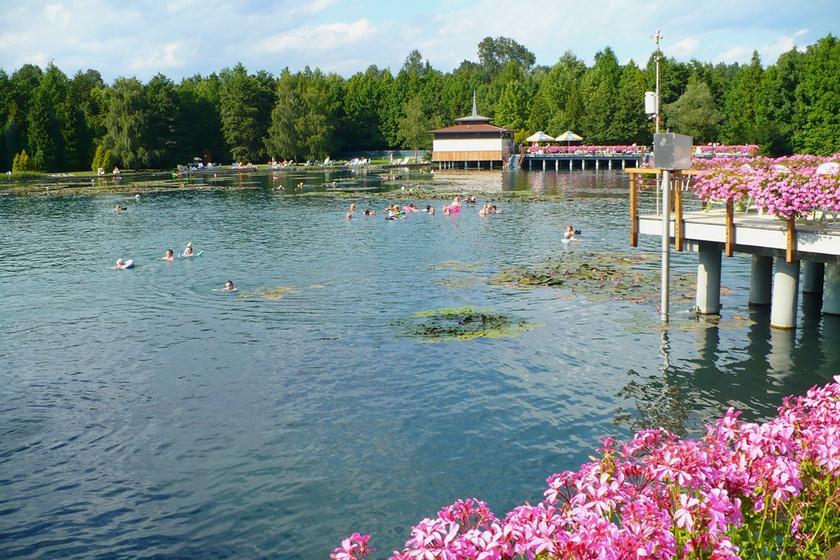 A Hévízi-tó.