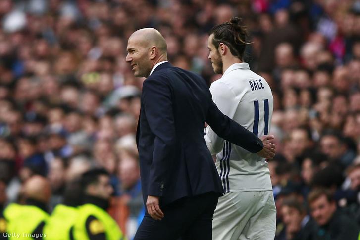 Zinedine Zidane (balra) és Gareth Bale