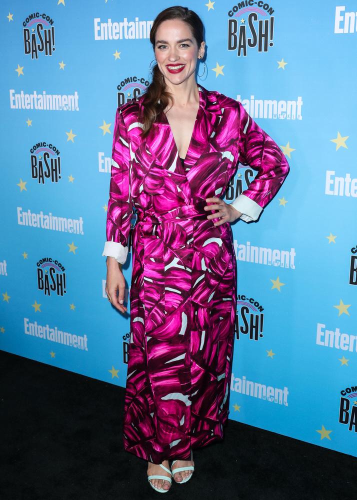 Melanie ScrofanoA Bad Blood színésznője elég különös öltözékben érkezett a rendezvényre