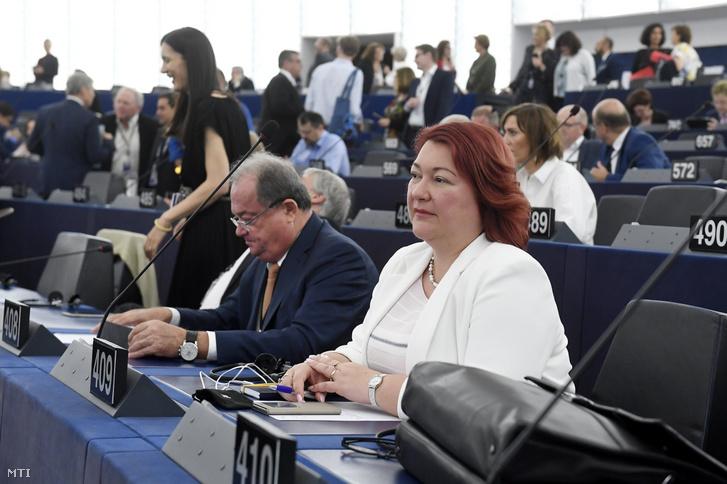 Bocskor Andrea az Európai Parlament plenáris ülésén Strasbourgban 2019. július 16-án.