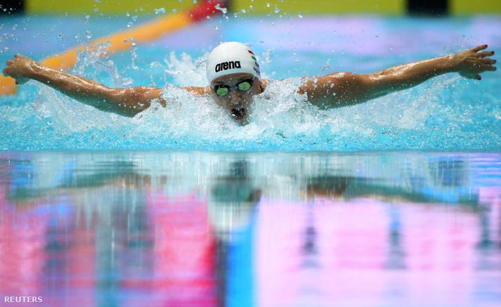 Hosszú Katinka a 200 méteres vegyesúszás döntőjében Kvandzsuban 2019. július 22-én