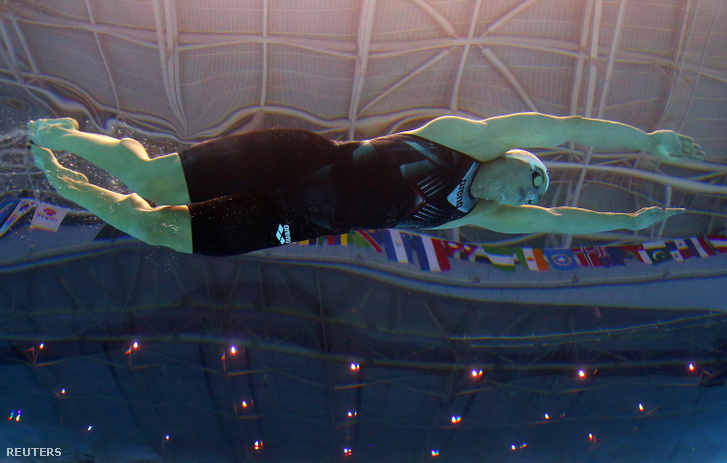 Hosszú Katinka a kvandzsui világbajnokság 200 méteres vegyesúszás döntőjében 2019. július 22-én