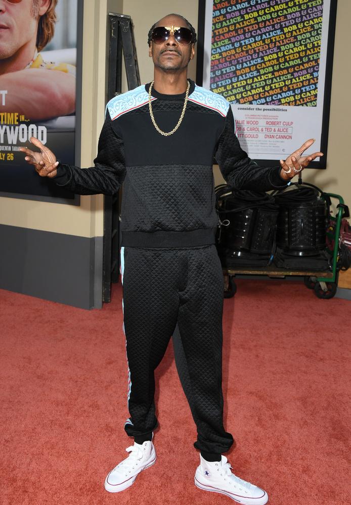 Végül szívélyesen pózolt a kamráknak Snoop Dogg is, aki szintén alig várta, hogy megnézhesse a Once Upon a Time in Hollywoodot