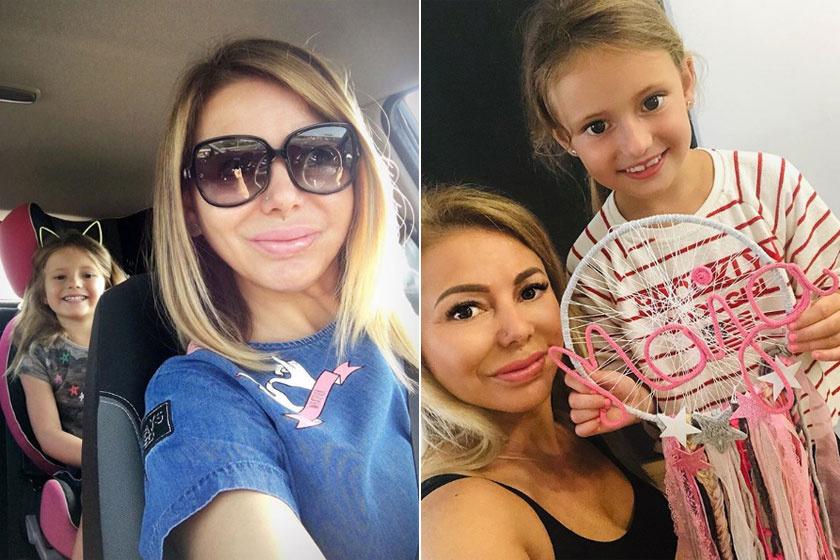 Judy és lánya 2017 nyarán és idén nyáron. Maja sokat változott az elmúlt két évben.