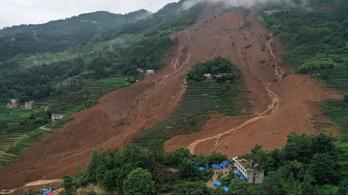 Földcsuszamlás volt Kína délnyugati részén