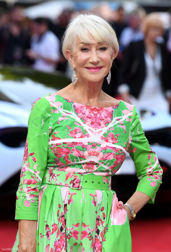 A 73 éves színésznő üde és vidám színfoltja volt a vörös szőnyegnek, ami nélküle eléggé lehangoló látványt nyújtott