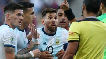 Messi 1 meccs eltiltásnál jár a Copa-pirosért