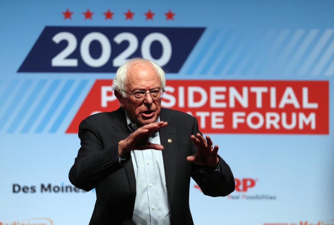 Bernie sanders beszél egy demokrata elnökjelölti fórumon Iowában 2019. július 20-án