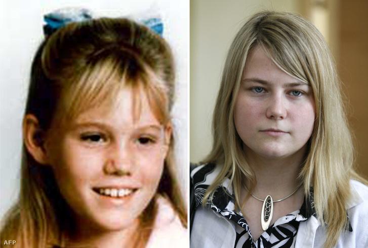 Bal oldalon: Jaycee Lee Dugard 11 évesen egy, az FBI által dátum nélkül, 2009. augusztus 27-én kiadott képen; Jobb oldalon: Az osztrák Natascha Kampusch 2008. május 15-én – mindkét lányt fiatalon, hasonló körülmények között rabolták el.
