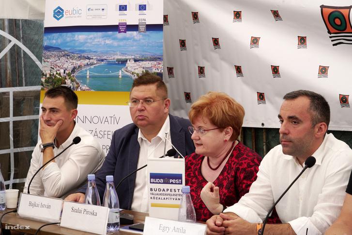 Balról-jobbra: Borbély Lénárd, Bajkai István, Szalai Piroska és Egry Attila