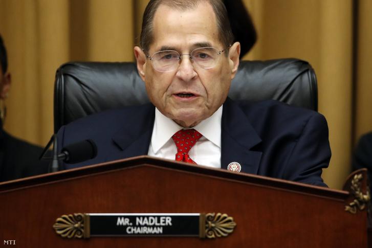 Jerrold Nadler demokrata párti képviselõ az amerikai képviselõház igazságügyi bizottságának elnöke