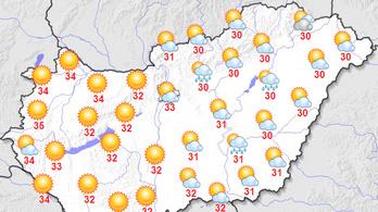 A fél országra figyelmeztetést adtak ki a hőség miatt