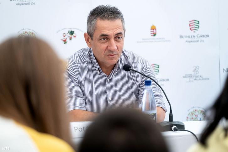 Potápi Árpád János a 30. Bálványosi Nyári Szabadegyetem és Diáktáborban (Tusványos) az erdélyi Tusnádfürdőn 2019. július 24-én