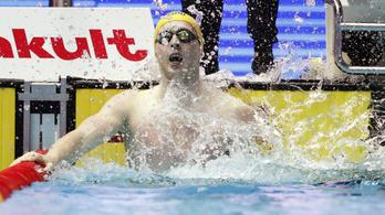 Megvan az úszó-vb harmadik világcsúcsa, de új rekord nélkül