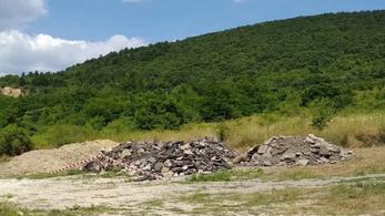 Kerületi útfelújításról hordták a törmeléket a budai kirándulóhelyre