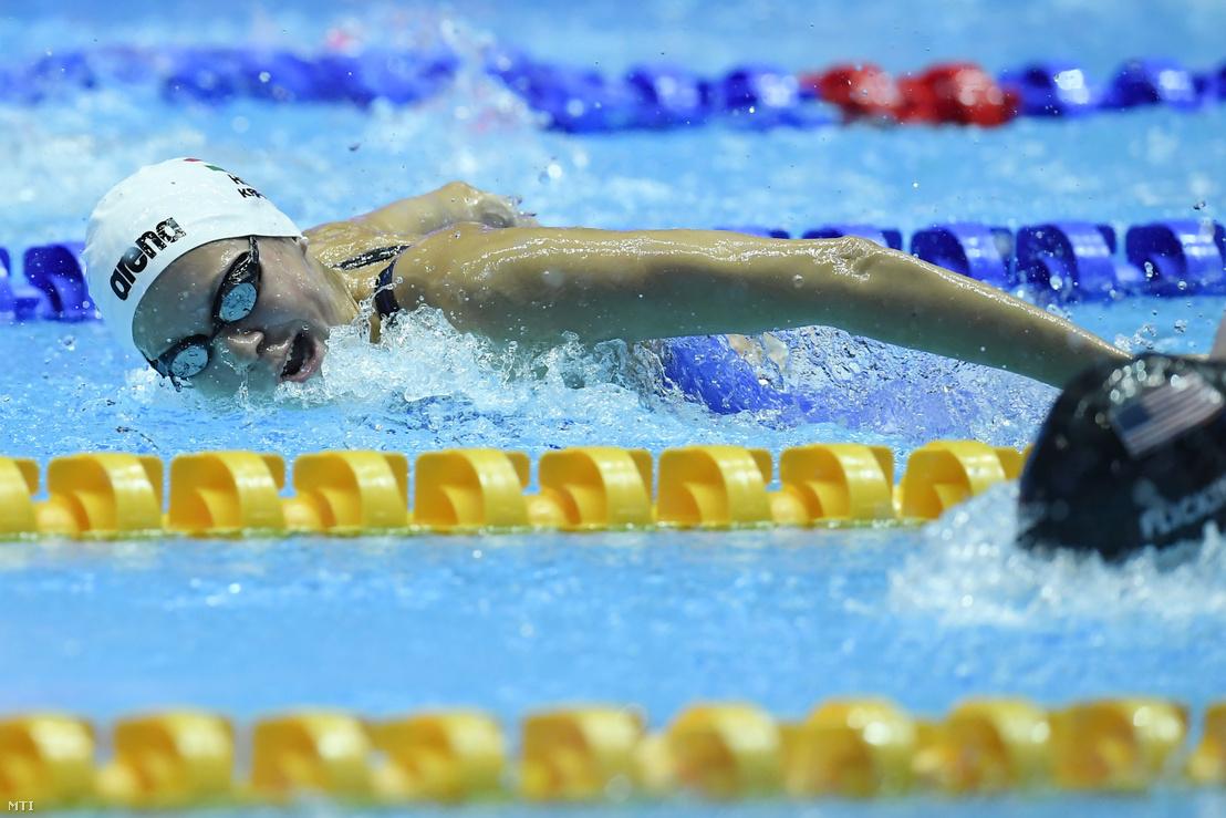Kapás Boglárka a női 200 méteres pillangóúszás döntőjében a 18. vizes világbajnokságon a dél-koreai Kvangdzsuban 2019. július 25-én