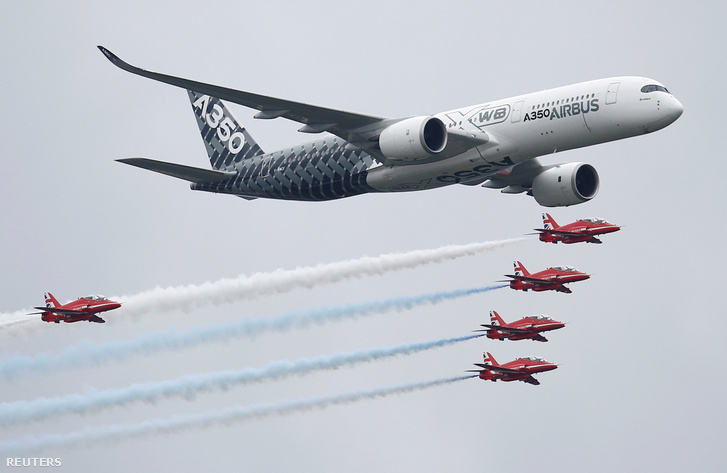 Az A350 egy angliai légiparádén