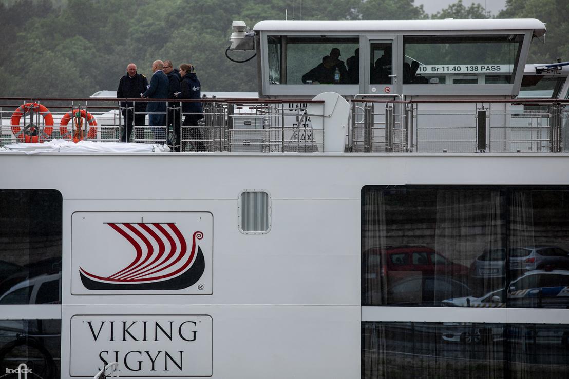 Viking Sigyn hajó a budapesti kikötőben 2019. május 30-án