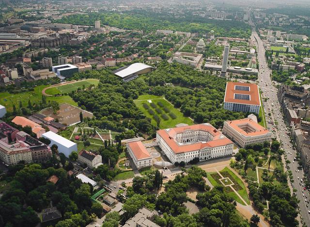 Az egyetem és campus látványterve