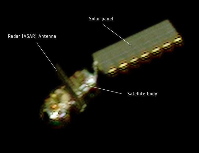 A Pleiades műhold felvételén látszik az elnémult Envisat
